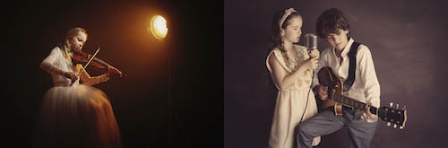 Child musician photography