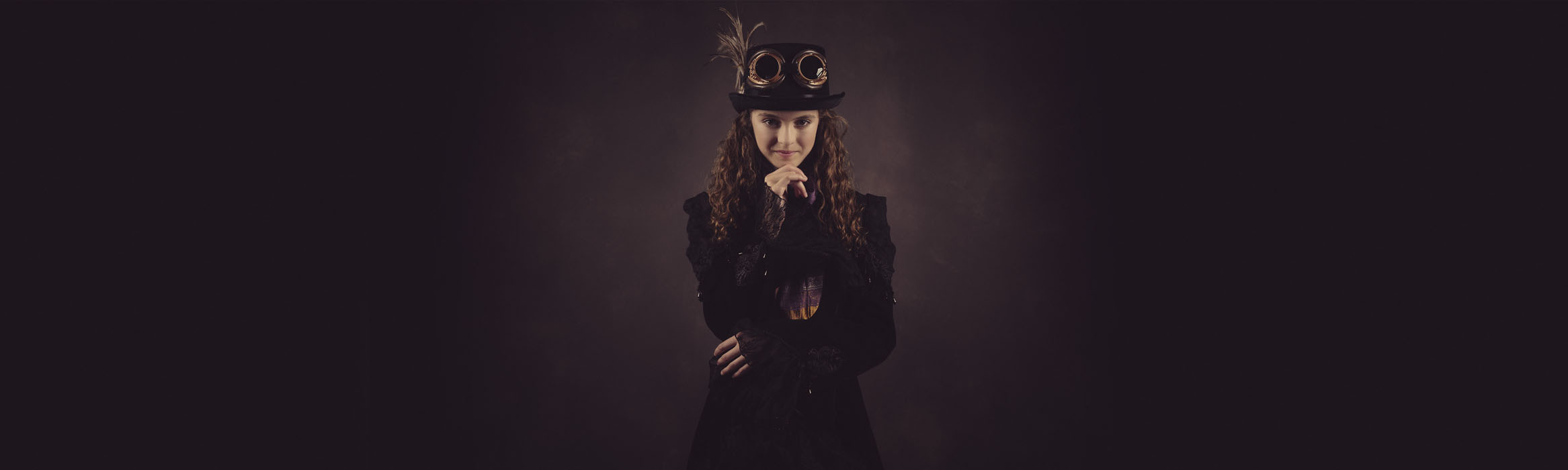 Child steampunk photography