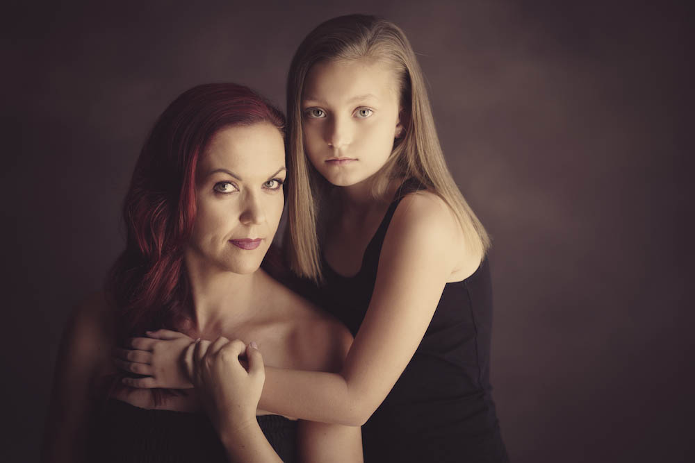 Mother and daughter photography portraits