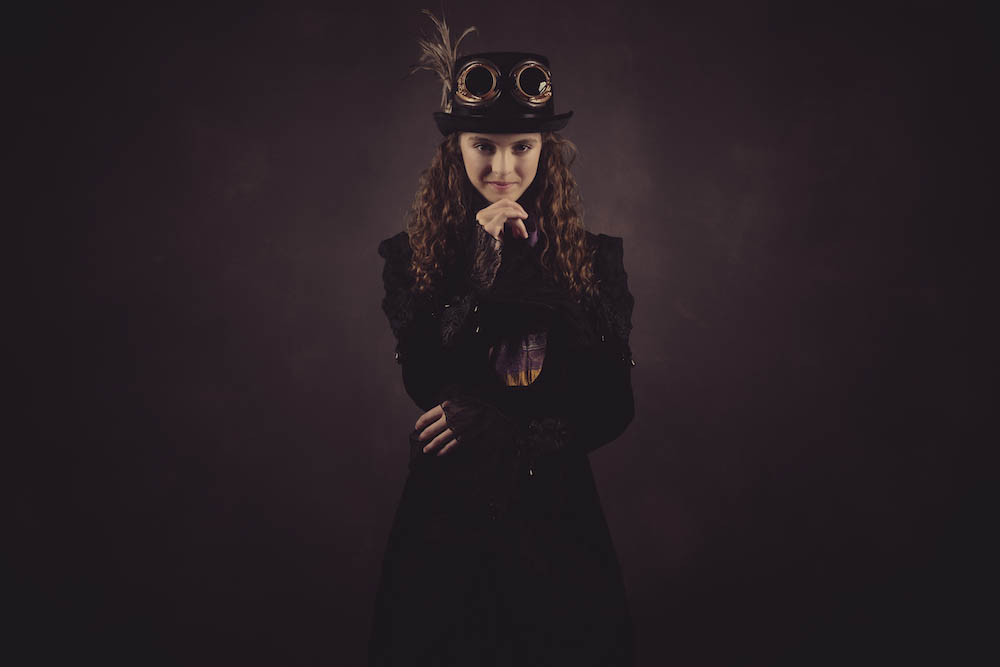 Steampunk teen photography