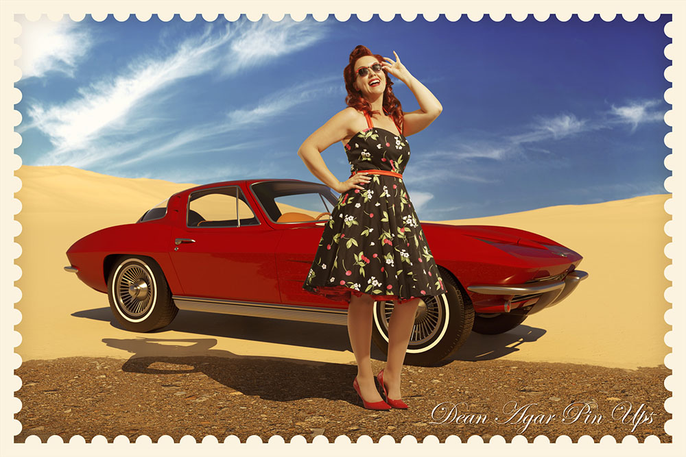 Lesley car desert 01