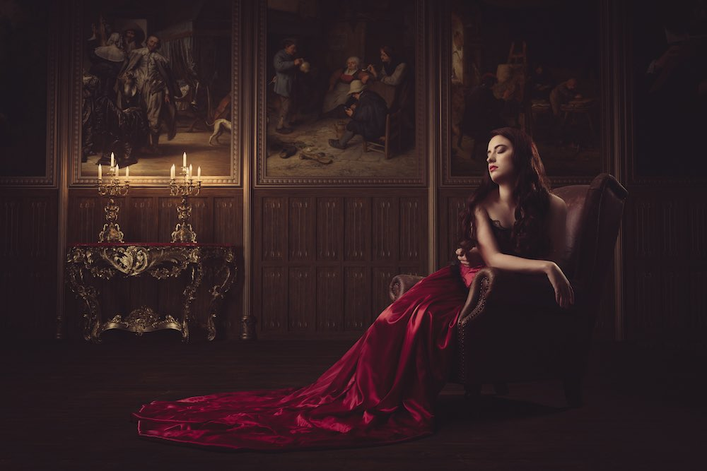 Red dress series photography 018